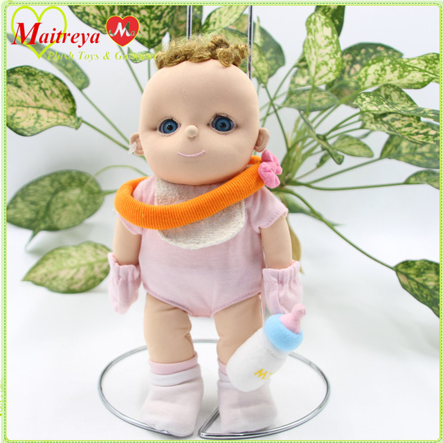 Classic design cute little soft plush baby doll boy drink milk