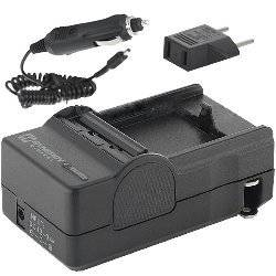 Canon VIXIA HF10 Camcorder Battery Charger (110/220v with Car adapter) - Replacement Charger for Canon BP-808, BP-809, BP-818 BP-819, BP-827 Battery