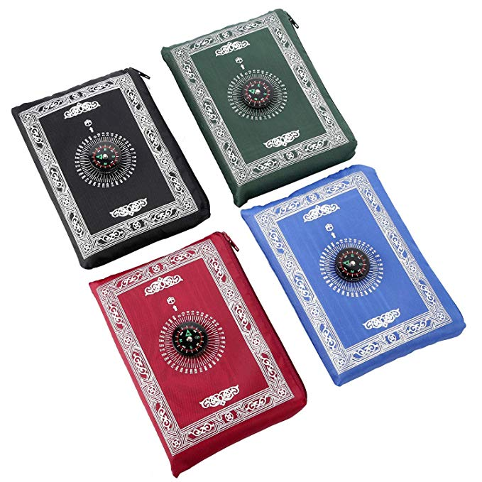 prayer mat with compass,10 Pieces, 5 colors for your choice