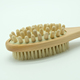 Vegan! Natural Long Wood Massager Bath Shower Back Spa Scrubber Wooden Body Brush Style No. LD-YS-V
