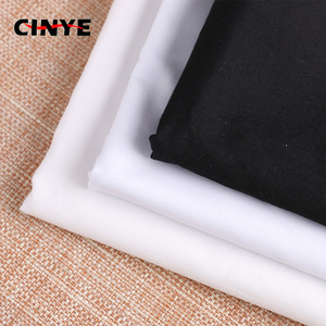 China factory wholesale pure color T/C 40s 133x72 white black plain poplin lining fabric