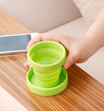 170ml Customized Practical Gift Silicone Portable Folding Cup With Cover