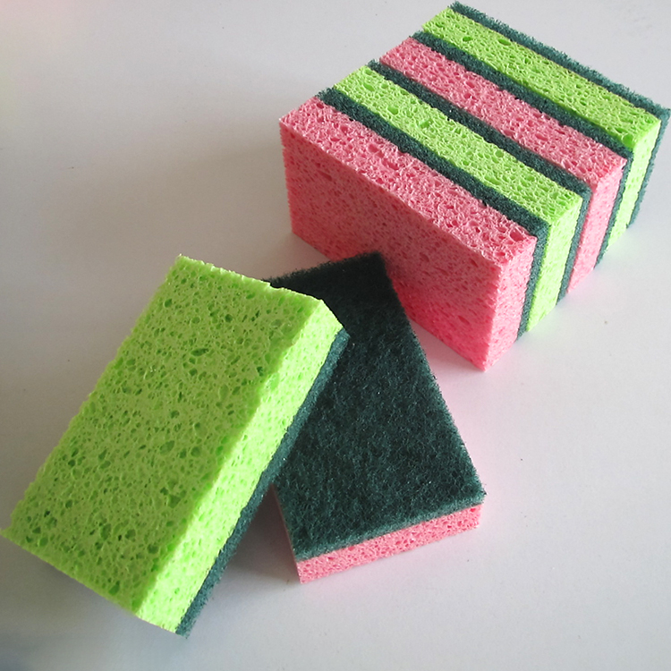 printing cellulose sponges scouring pads kitchen cleaning