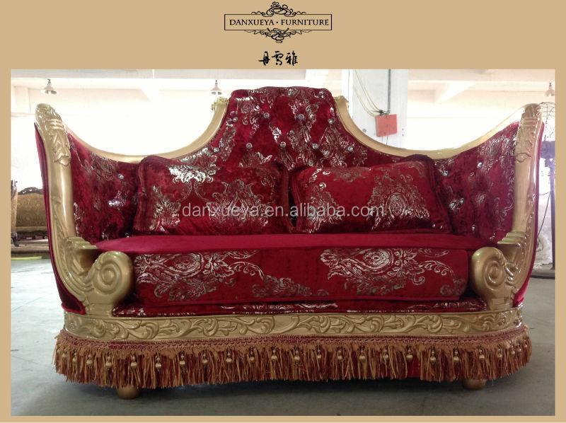 Arabic Living Room Luxury Furniture Red Wedding Love Seat Sofas Part 64