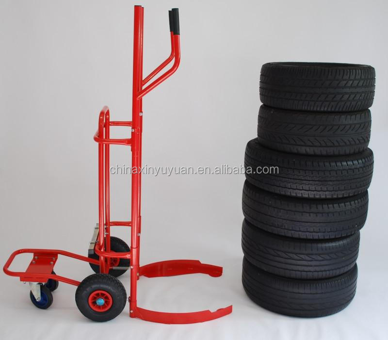 tc1983 hand truck tires transport truck wheeled cart with tires pushcart wheel dolly