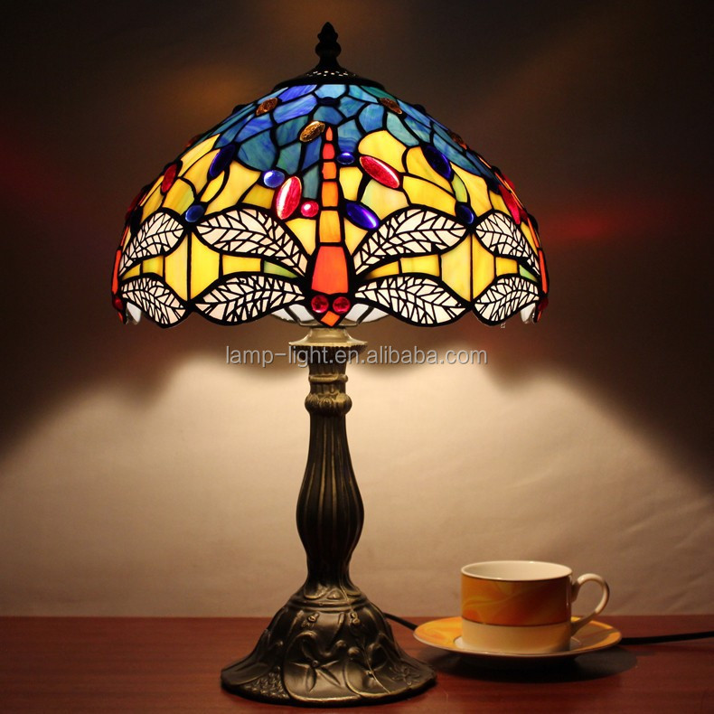"ST12014 12"" antique tiffany table <strong>lamp</strong> for bedroom with wholesale price"