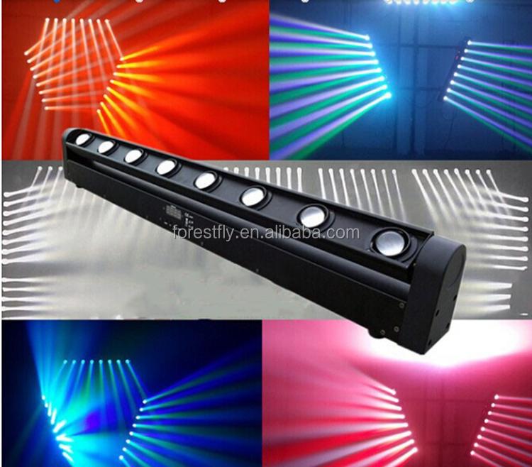 Led 8pcsx10w Rgbw Colour Led Beam Effect Light Stage Lighting Dj ...