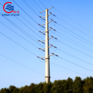 132KV 138KV 230KV Transmission lines monopole tower