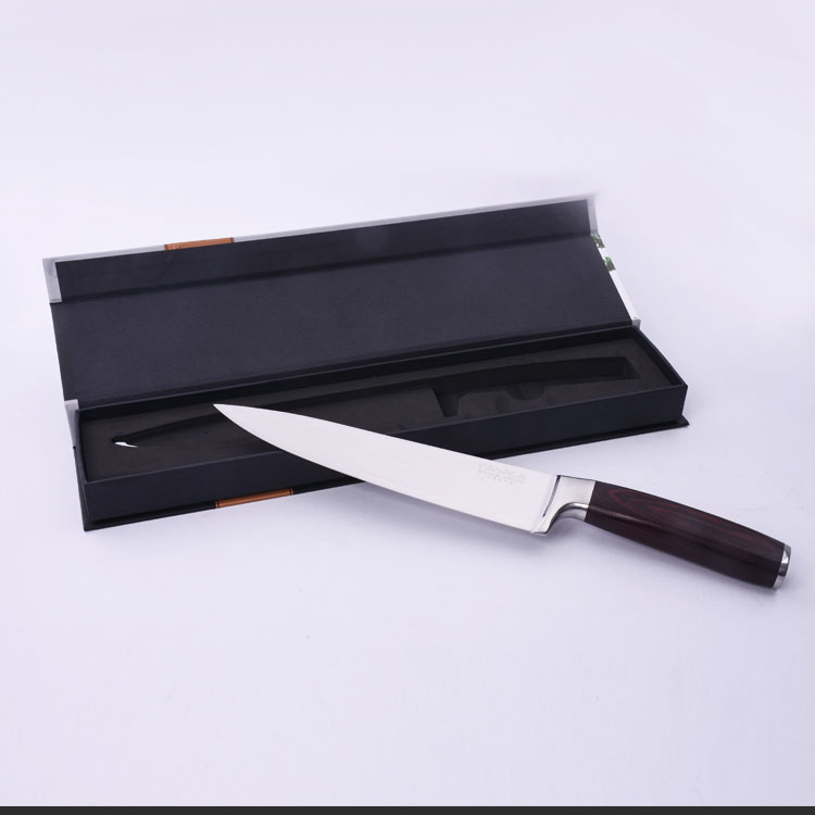 High Carbon Super Steel Damascus 8 Inch Chef Kitchen Knife with Color Wood Handle