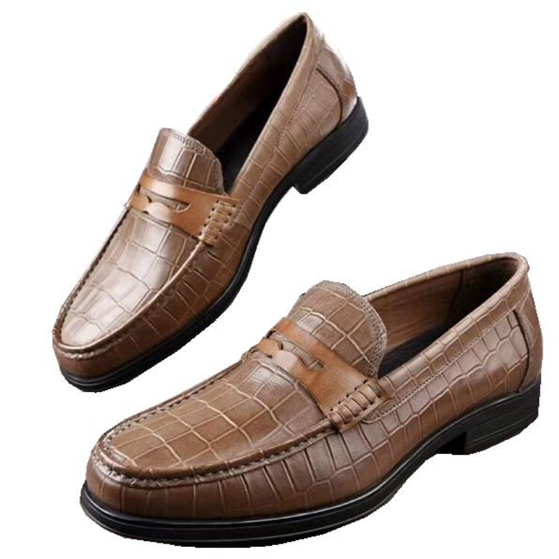 italian high quality fashion men leather shoes genuine wxvz0Rq