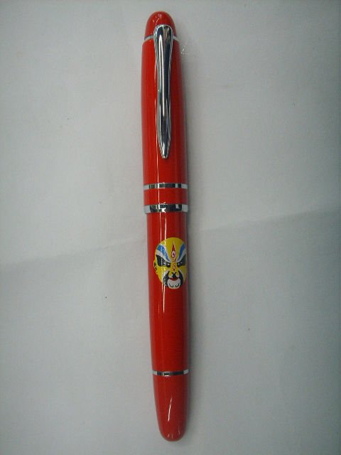chinese red pretty porcelain ball pen for gift