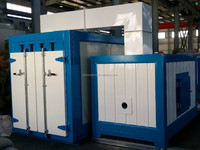 O-750 Metal pipe/fence/railing/parts painting drying cure oven with programmable forced exhaust system