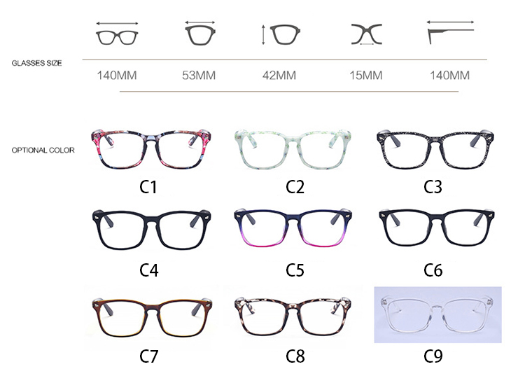 Optical glasses frame retro unisex clear korean glasses frame