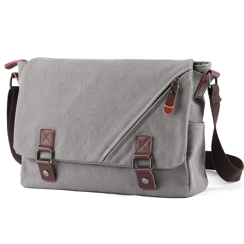 XIAMEND Mens Messenger Shoulder Bag Vintage Leather Briefcase Crossbody Bag for School and Work Color : Black