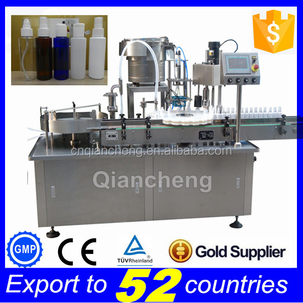 15 years factory Automatic aerosol spray filling machine,piston pump filling machine
