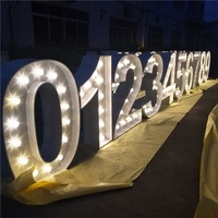 2019 led metal letters new metal vintage light up marquee letters 3D led lights