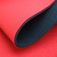 2mm Black & Red Popular 2 neoprene fabric, Diving suit neoprene with nylon/polyester fabric