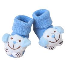 ARLONEET/2018 г. Нескользящие хлопковые носки с рисунком для новорожденных девочек и мальчиков тапочки 7 см, теплая и модная повседневная обувь(China)