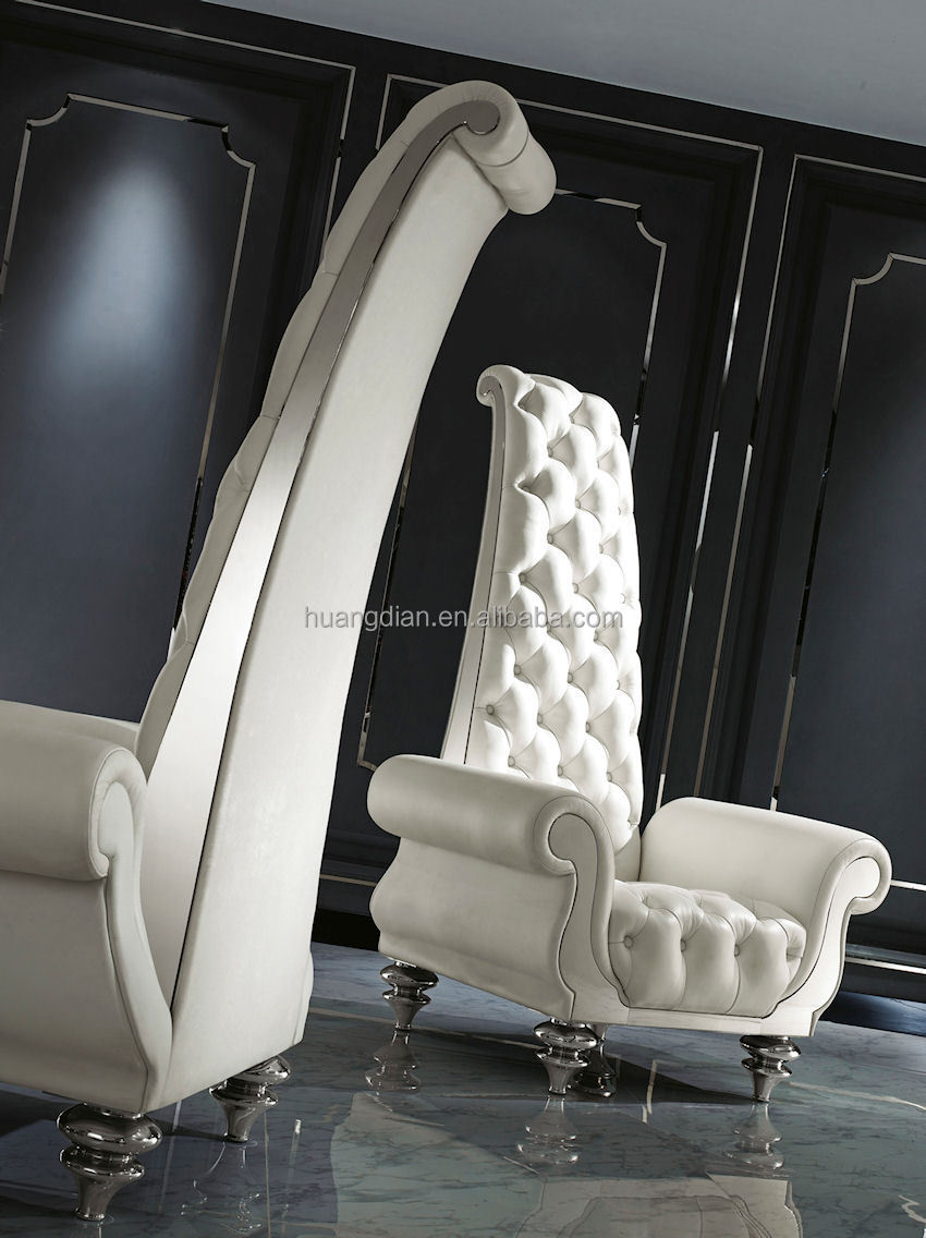 French Style White High Back Wing Chair For Lobby Furniture Tc4022