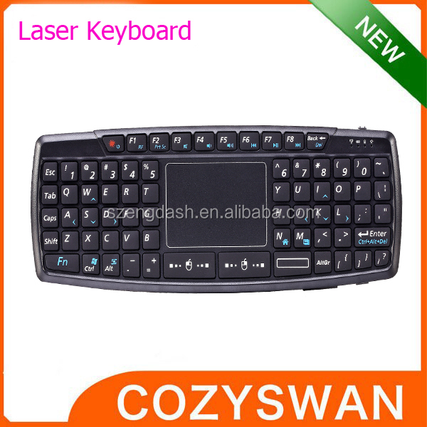 Mini 2.4G RF Wireless Tablet Keyboard Laser Point Touchpad