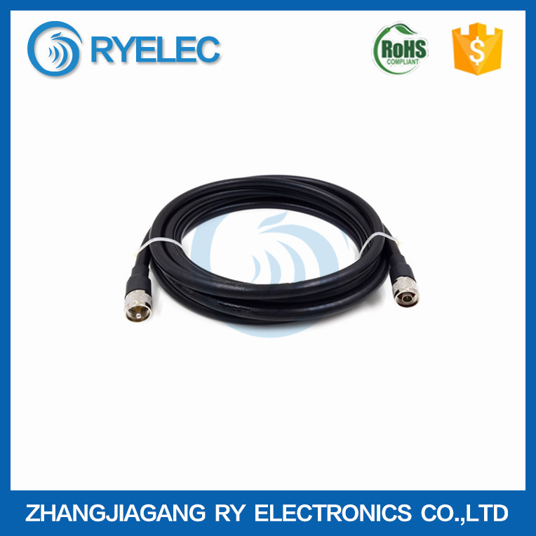customized RG8/U N male to uhf male soft test extension cable