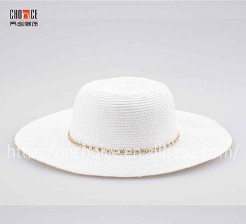 ec83f20ebe9 Plain White Straw Hat Ladies Floppy Big Brim Sunshade Hat For Women ...