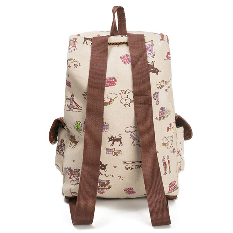 Wholesale canvas child school bag cute backpacks for girls
