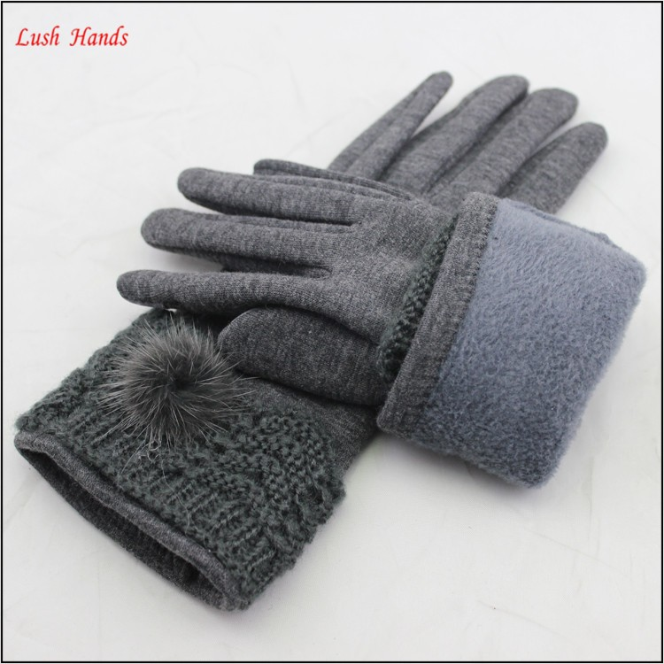 2016 spring micro velvet hand gloves touch finger hand gloves women