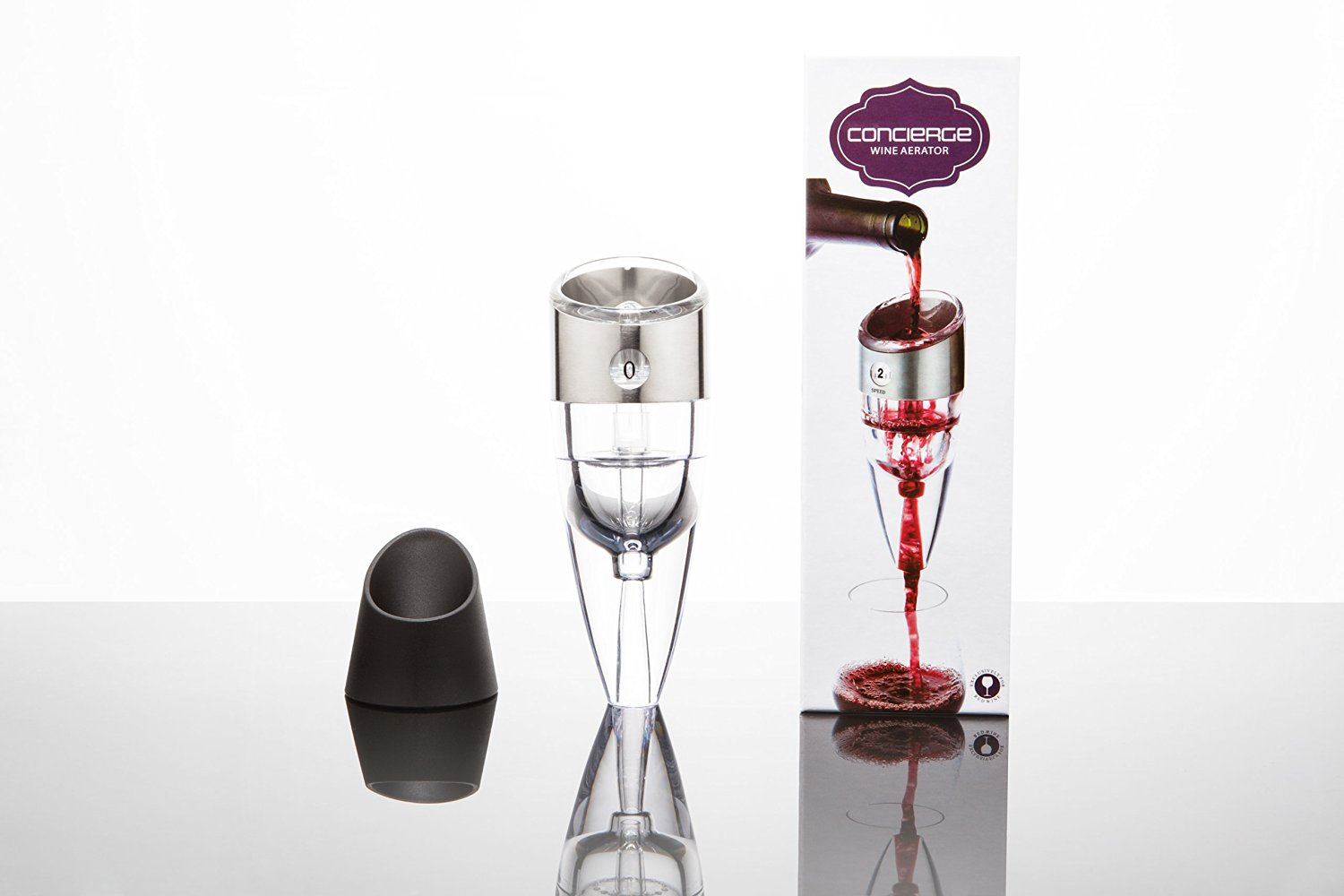 Premium Wine aerator - For Essential Pourer from Adjustable Aerator - Luxury Stainless Steel Metal Gauge - Include Travel Pouch and Stand