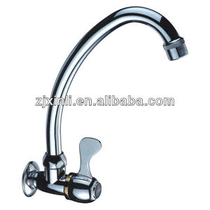 High Quality Kitchen Sink Cold Water Tap, Polish and Chrome Finish, Wall Mounted
