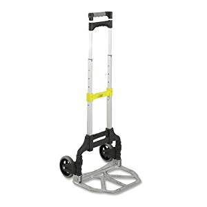 "Wholesale CASE of 5 - Safco Stow Away Lightweight Hand Truck-Hand Truck, Stow-Away, 15-3/4""x16-1/4""x39-1/2"", 110 Ibs."