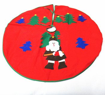 red waterproof christmas tree skirt kits ornament