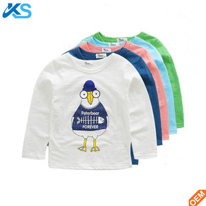Hot selling clothes kid sublimation printing cotton clothing new style fashion boy's t shirt
