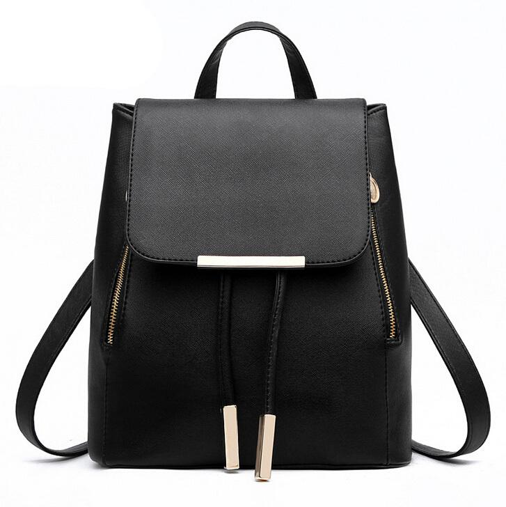 37072e771c0 Get Quotations · Women Girl School bags Backpack Fashion Shoulder Bag  Rucksack Leather Travel bags