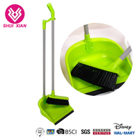 2019 Plastic Household Items Cleaning Rubber Broom And Dustpan Set