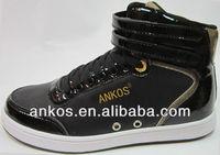 Fashion PU high cut men skateboard shoes 2015 high quality men casual shoes