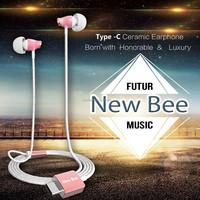 New Design Ceramic Earphones for Girls HIFI High Fidelity Stereo Ceramic Earphone for Samsung