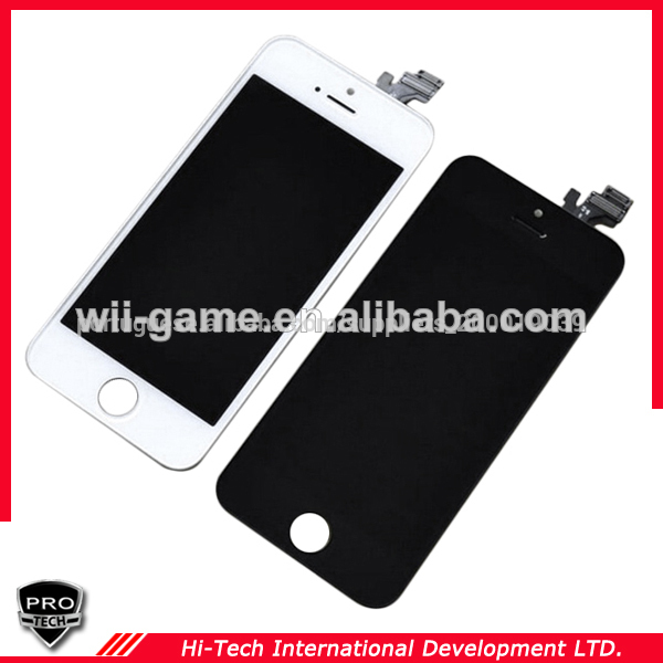 Telefone móvel lcd para o iphone 5s lcd touch screen digitador assembléia para o iphone lcd 5s preto& cor branca