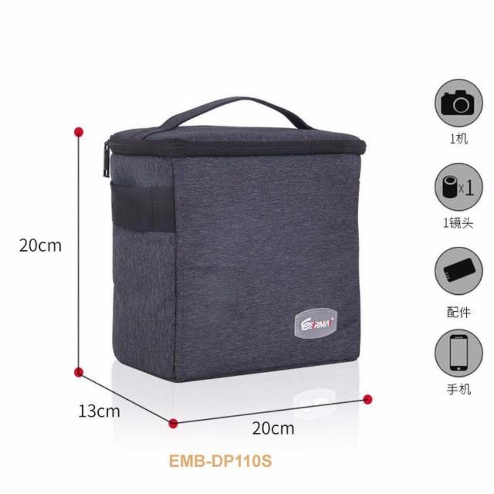 Eirmai Waterproof Multi-function Single-Shoulder Dual-Purpose Bag SLR DSLR Inner Padded Camera Bag Case with Insert Partition