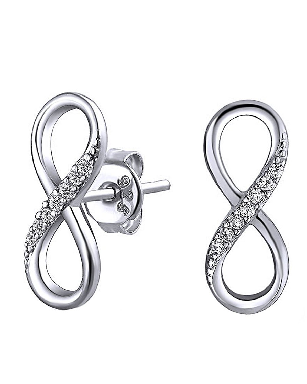 Infinity Earrings White Gold Find