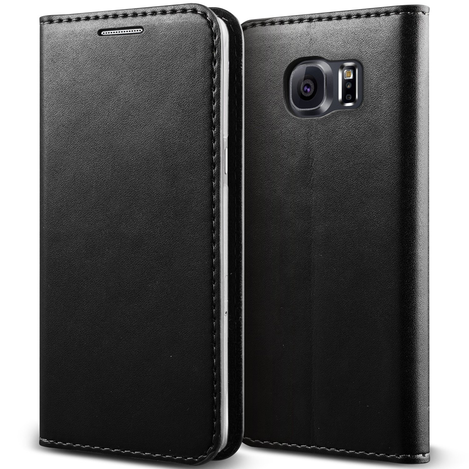 Galaxy S6 Case, Verus [Crayon Diary][Black] - [Leather Wallet][Kickstand][Slim Fit] For Samsung Galaxy S6