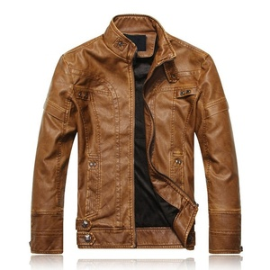 Wholesale XXXXL City Classic Men's Biker Zipper Leather Jacket Giacca Moto