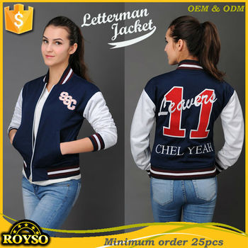 Custom Made High School Varsity Letterman Bomber Baseball Jacket ...