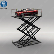 Fixed hydraulic scissor type car lift / car lifting machine for sale