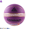 Lenwave brand basket ball basketball games indoor and outdoor colorful rubber basketball ball