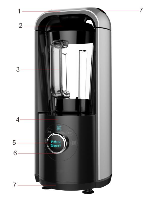 2017 BPA free 800W vacuum blender