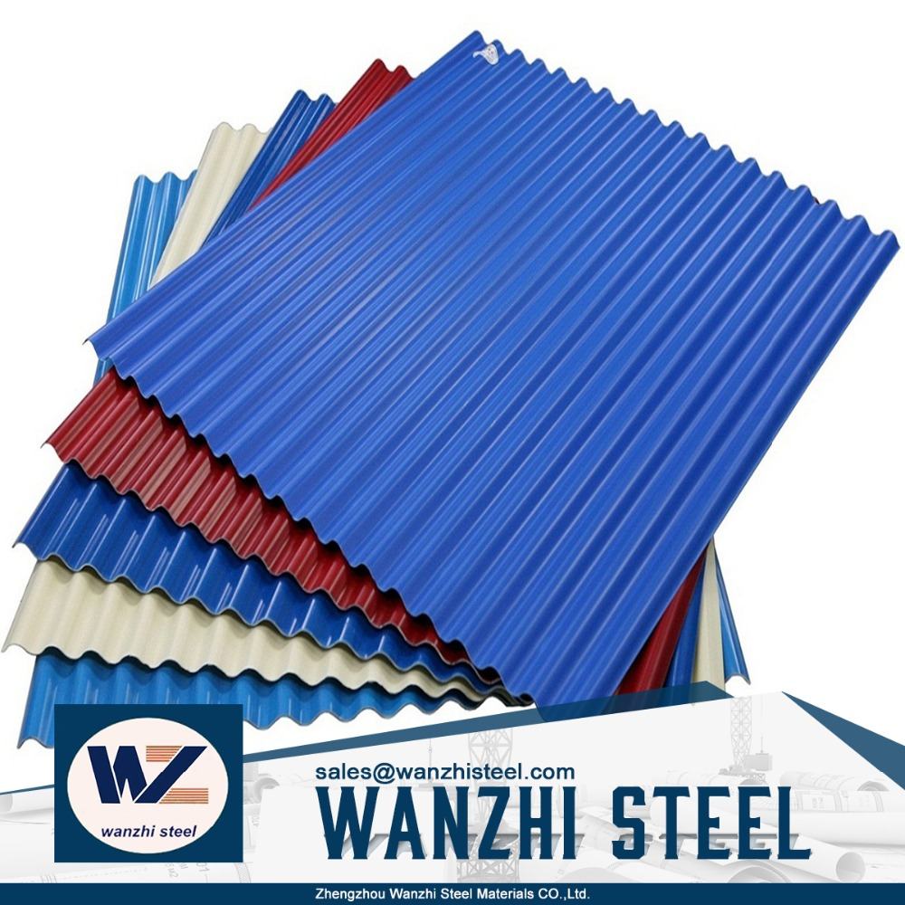 Color Coated Metal Roof Tile Corrugated Steel Roofing Sheet Price