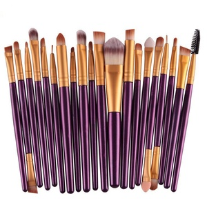purple rose gold comb makeup brushes set
