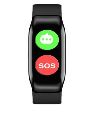 Esim impermeable ip67 caída de alarma de ancianos gps reloj inteligente 2019 para hospital