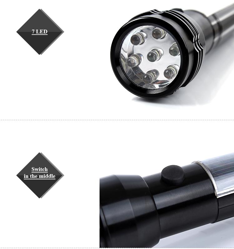Ultra 7 Led Solar Flashlight Torch Sample Free Flashlight - Buy ...